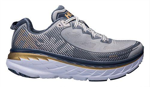 Mens Hoka One One Bondi 5 Running Shoe - Grey/Navy 10.5