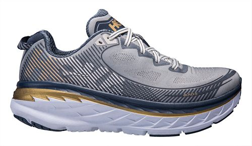 Mens Hoka One One Bondi 5 Running Shoe - Grey/Navy 12