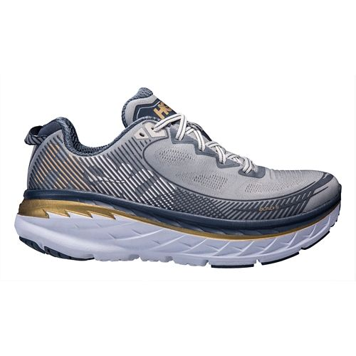 Mens Hoka One One Bondi 5 Running Shoe - Grey/Navy 7.5