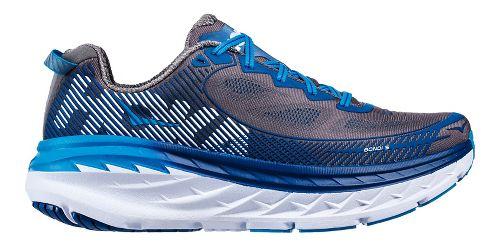 Mens Hoka One One Bondi 5 Running Shoe - Grey/Blue 9