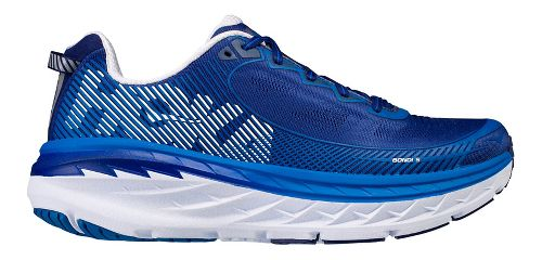 Mens Hoka One One Bondi 5 Running Shoe - Blue/White 11.5