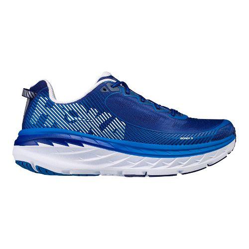 Mens Hoka One One Bondi 5 Running Shoe - Blue/White 10