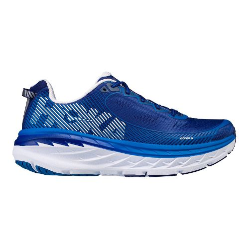 Mens Hoka One One Bondi 5 Running Shoe - Blue/White 8