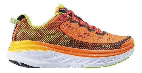 Mens Hoka One One Bondi 5 Running Shoe - Orange/Gold 9