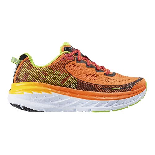 Mens Hoka One One Bondi 5 Running Shoe - Orange/Gold 10.5