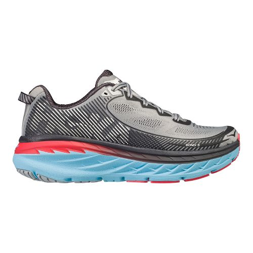 Womens Hoka One One Bondi 5 Running Shoe - Grey/Blue 8.5