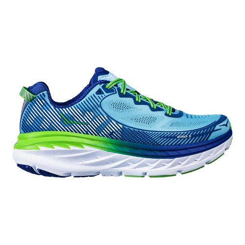 Womens Hoka One One Bondi 5 Running Shoe - Aqua/Indigo 5.5