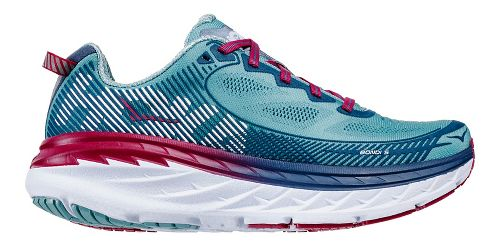 Womens Hoka One One Bondi 5 Running Shoe - Aqua/Indigo 10.5