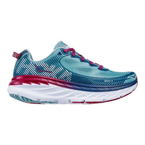 Womens Hoka One One Bondi 5 Running Shoe - Aqua/Indigo 5.5
