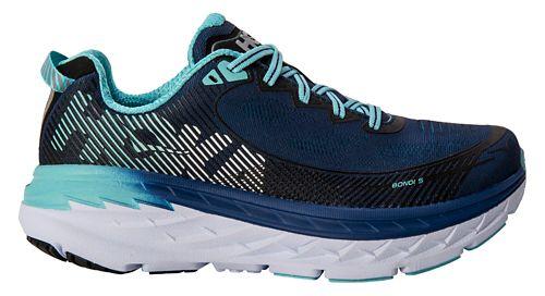 Womens Hoka One One Bondi 5 Running Shoe - Medieval Blue/Mint 6.5