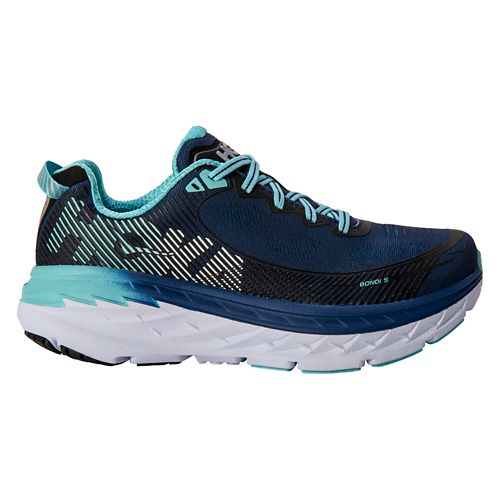 Womens Hoka One One Bondi 5 Running Shoe - Medieval Blue/Mint 9