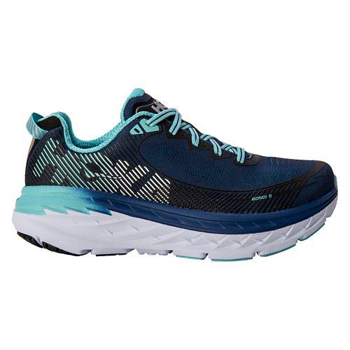 Womens Hoka One One Bondi 5 Running Shoe - Medieval Blue/Mint 9.5