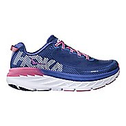Womens Hoka One One Bondi 5 Running Shoe - Blue/Pink 6.5