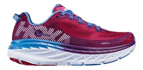 Womens Hoka One One Bondi 5 Running Shoe - Cherry/Purple 9.5