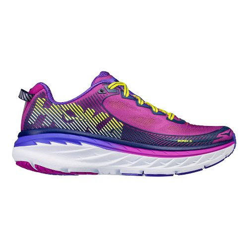 Womens Hoka One One Bondi 5 Running Shoe - Grey/Blue 8