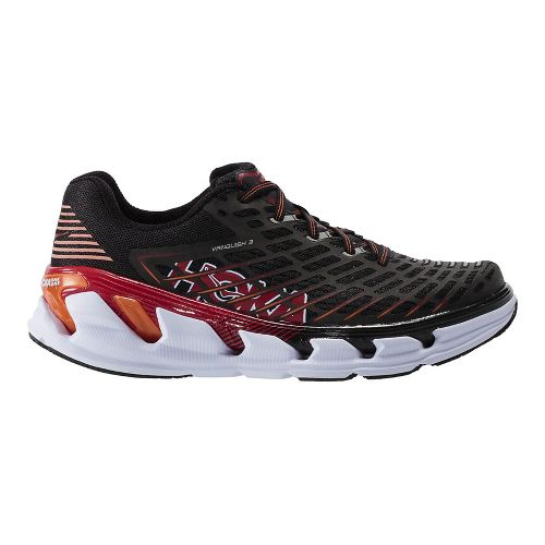 Mens Hoka One One Vanquish 3 Running Shoe - Black/Formula One 12