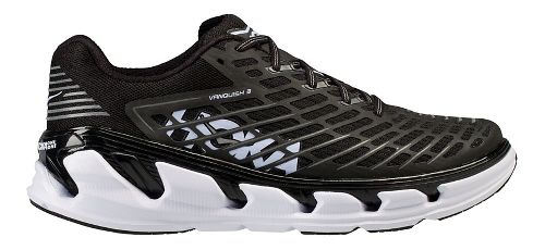 Mens Hoka One One Vanquish 3 Running Shoe - Black/White 9