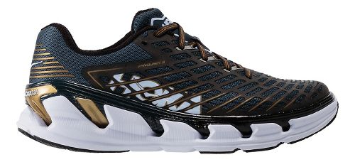 Mens Hoka One One Vanquish 3 Running Shoe - Navy/Gold 11.5