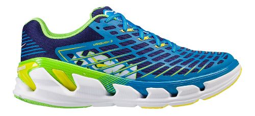 Mens Hoka One One Vanquish 3 Running Shoe - Navy/Gold 7