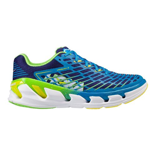 Mens Hoka One One Vanquish 3 Running Shoe - Blue/Green 12