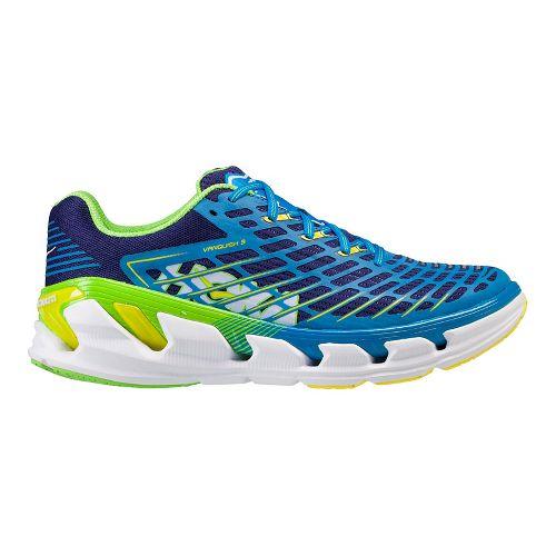 Mens Hoka One One Vanquish 3 Running Shoe - Blue/Green 15