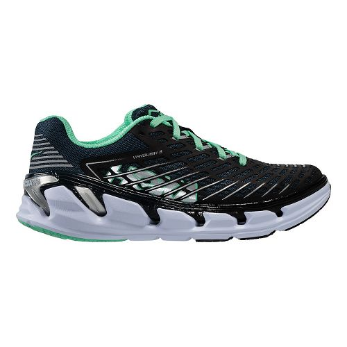 Womens Hoka One One Vanquish 3 Running Shoe - Navy/Mint 10
