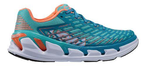 Womens Hoka One One Vanquish 3 Running Shoe - Blue/Coral 9.5