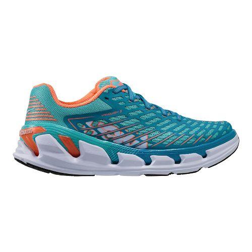 Womens Hoka One One Vanquish 3 Running Shoe - Blue/Coral 5.5