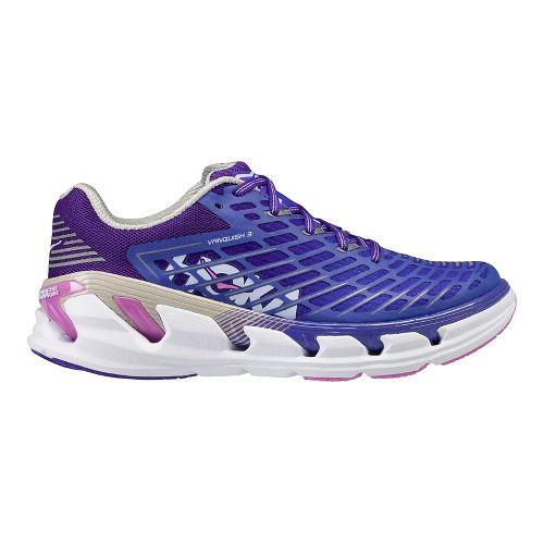 Womens Hoka One One Vanquish 3 Running Shoe - Blue/Coral 8