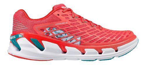Womens Hoka One One Vanquish 3 Running Shoe - Coral/Teal 9