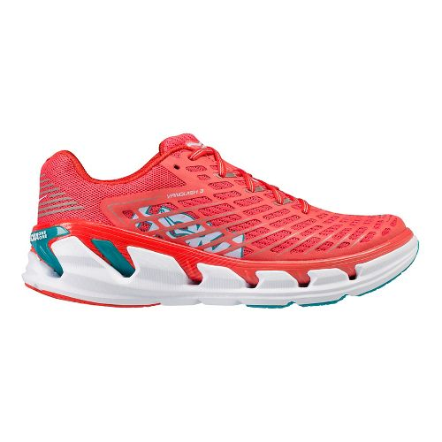 Womens Hoka One One Vanquish 3 Running Shoe - Coral/Teal 5