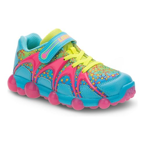 Stride Rite Leepz Running Shoe - Blue/Citron/Pink 9C
