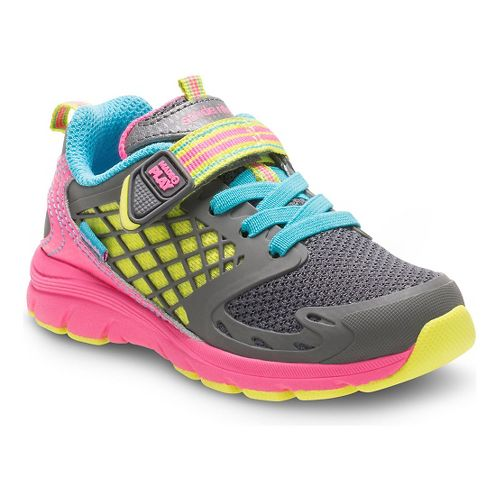 Stride Rite Girls M2P Cannan Running Shoe - Pink/Grey 5C