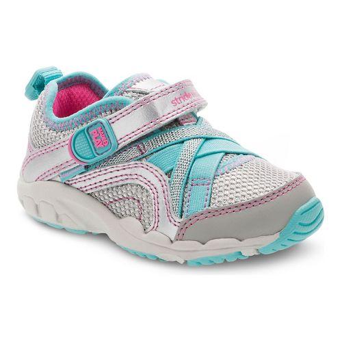 Kids Stride Rite M2P Serena Running Shoe - Silver/Blue 4.5C