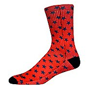 Brooks Pacesetter Victory Crew Socks - Red/Navy L