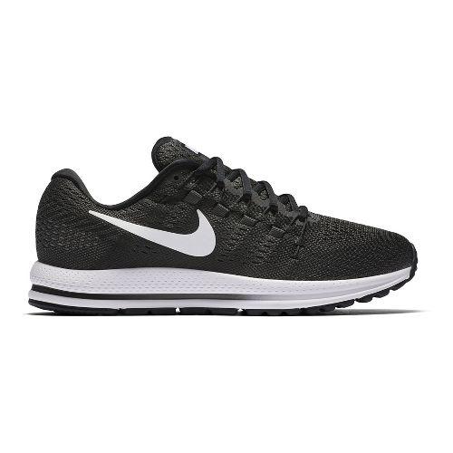 Mens Nike Air Zoom Vomero 12 Running Shoe - Black/White 9.5