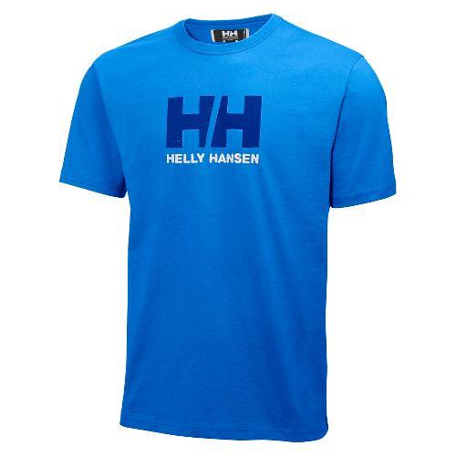 Mens Helly Hansen HH Logo T-shirt Short Sleeve Technical Tops - Racer Blue M