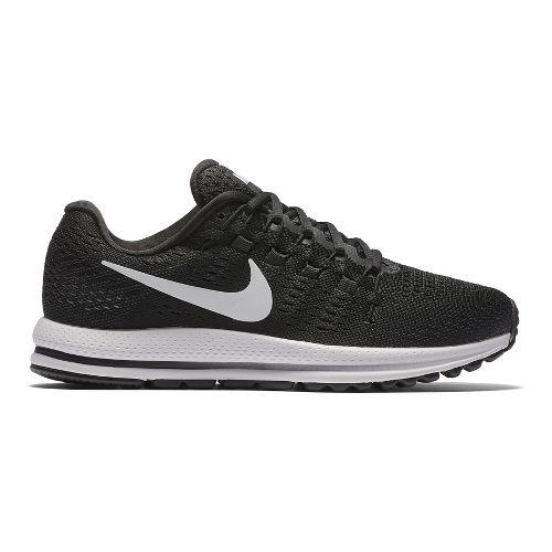 Womens Nike Air Zoom Vomero 12 Running Shoe - Black/White 10.5