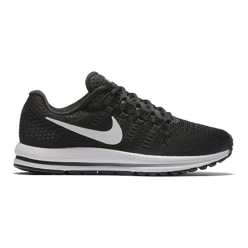Womens Nike Air Zoom Vomero 12 Running Shoe - Black/White 11