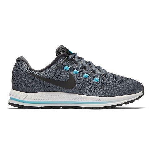 Womens Nike Air Zoom Vomero 12 Running Shoe - Grey/Blue 7