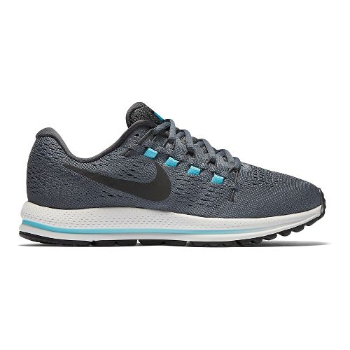 Womens Nike Air Zoom Vomero 12 Running Shoe - Grey/Blue 8.5