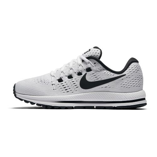 Womens Nike Air Zoom Vomero 12 Running Shoe - White/Black 6.5