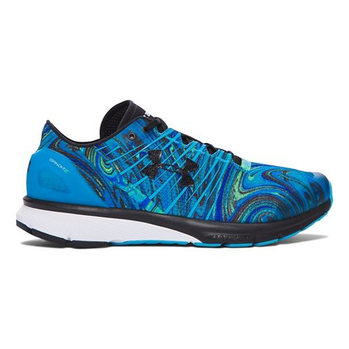 Mens Under Armour Charged Bandit 2 Psychedelic Running Shoe - Meridian Blue/White 14