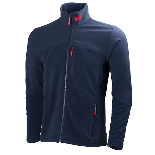 Mens Helly Hansen Crew Fleece Cold Weather Jackets - Evening Blue L