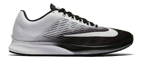 Mens Nike Air Zoom Elite 9 Running Shoe - Black/White 14