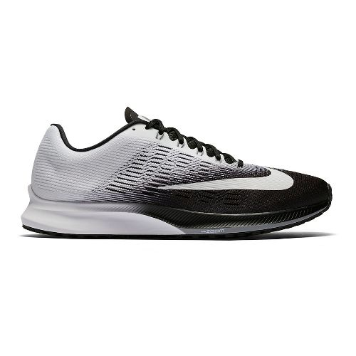 Mens Nike Air Zoom Elite 9 Running Shoe - Black/White 12