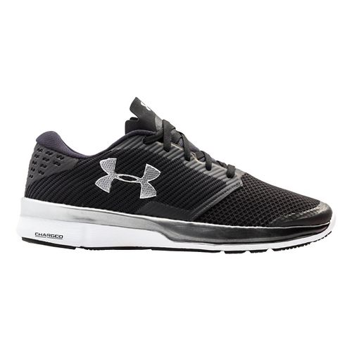 Mens Under Armour Charged Reckless Running Shoe - Black/White 14