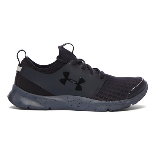 Mens Under Armour Drift RN Running Shoe - Black/Stealth Grey 9.5