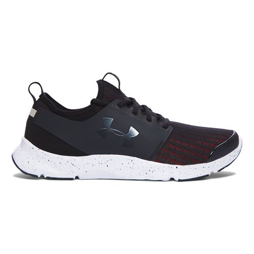 Mens Under Armour Drift RN Running Shoe - Black/Bolt Orange 9.5