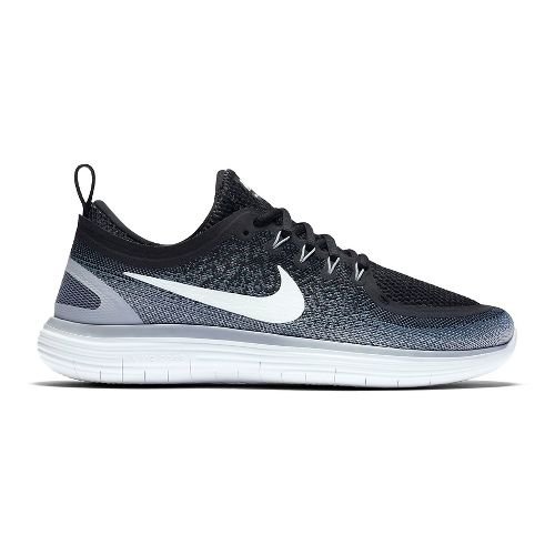 Mens Nike Free RN Distance 2 Running Shoe - Black/White 9.5